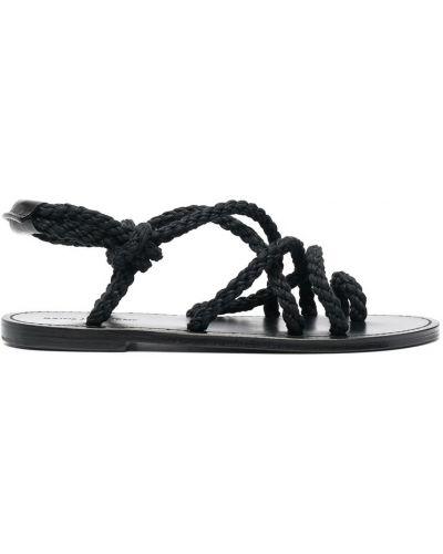 Czarne sandały Saint Laurent