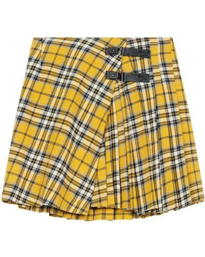 Плиссированная юбка - желтая Maje