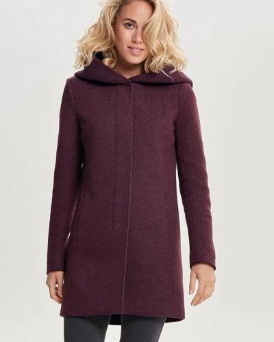 Пальто - бордовое Only