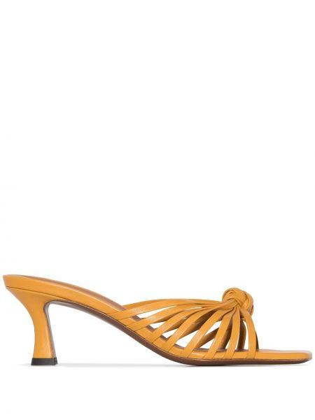 Żółte sandały skorzane Neous
