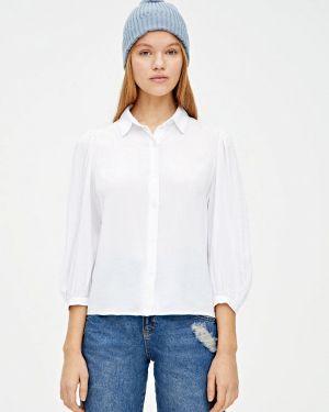 Блузка с длинным рукавом белая осенняя Pull&bear