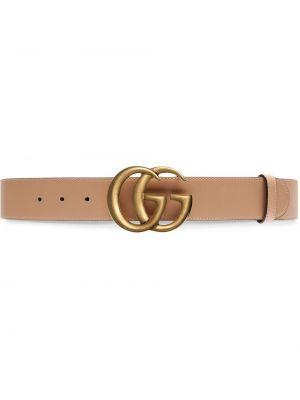 Złoty pasek - beżowy Gucci