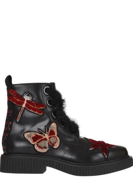 Кожаные ботинки осенние черный Iceberg