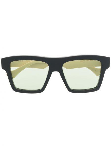 Okulary z printem - czarne Gucci Eyewear