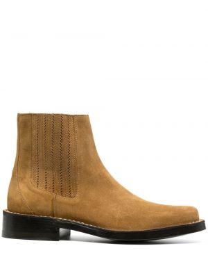 Кожаные ботинки челси - коричневые Kenzo