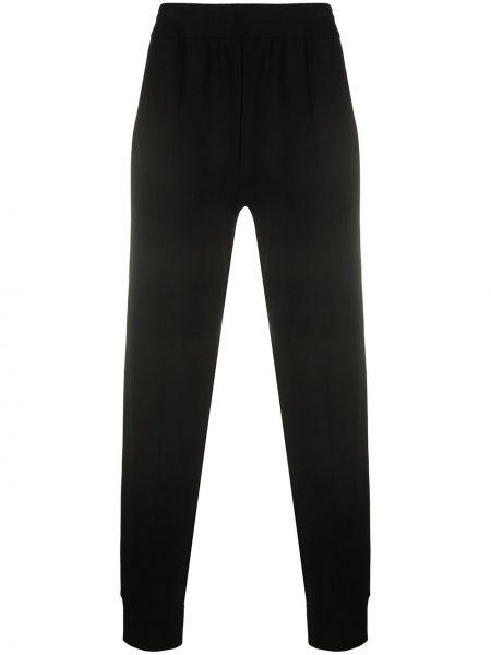 Prążkowane czarne spodnie z wiskozy Falke
