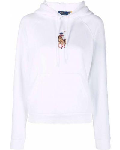 Худи длинное - белое Polo Ralph Lauren