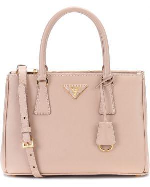 Кожаная сумка маленькая сумка-тоут Prada