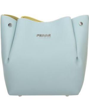 Кожаная сумка - бирюзовая Ferre Collezioni
