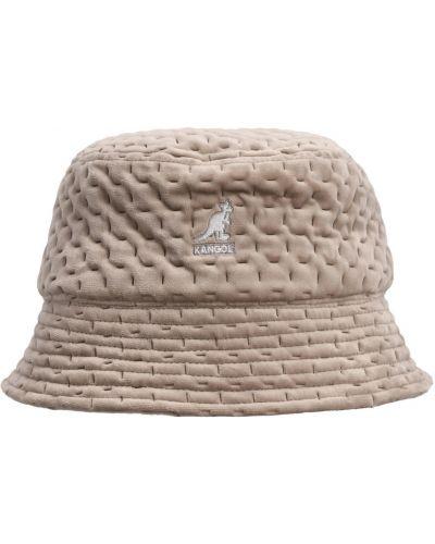 Beżowa czapka z nausznikami Kangol