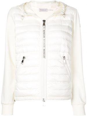 Куртка с капюшоном мятная с манжетами на молнии узкого кроя Moncler