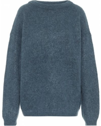 Синий свитер оверсайз из мохера Acne Studios