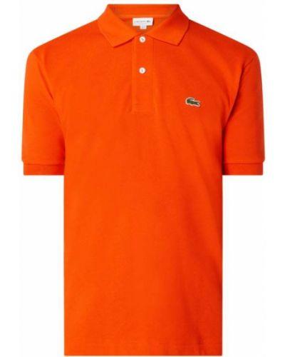 T-shirt bawełniana - pomarańczowa Lacoste