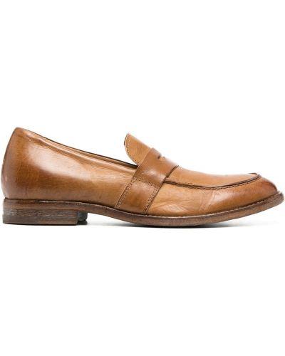 Brązowe loafers skorzane kaskadowe Moma