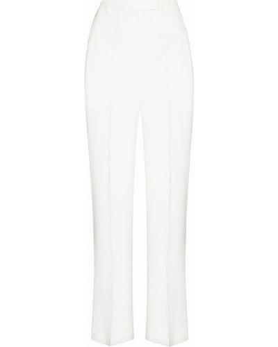 Белые широкие брюки Frankie Shop
