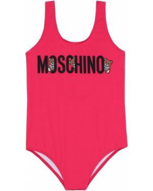 Strój kąpielowy różowy fuksja Moschino Kids