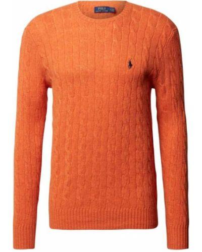 Sweter wełniany - pomarańczowy Polo Ralph Lauren