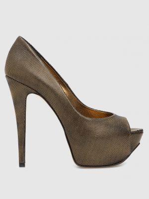 Кожаные туфли - золотые Gina
