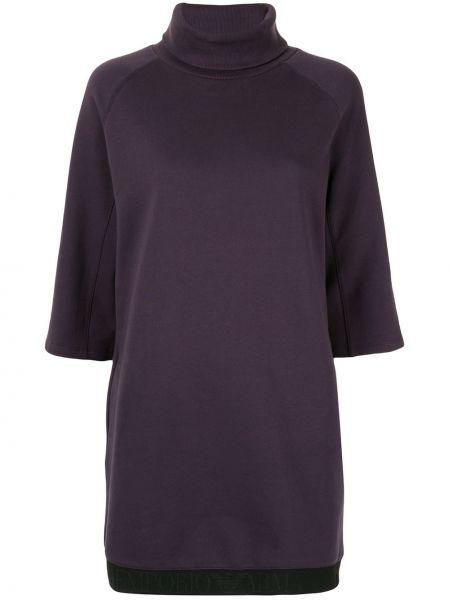 Платье мини короткое - фиолетовое Emporio Armani