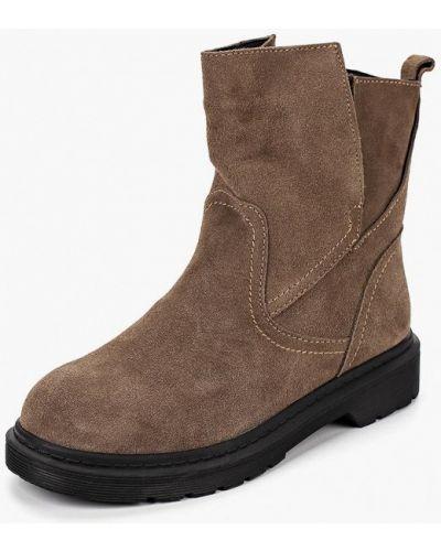 Ботинки на каблуке осенние замшевые Berkonty