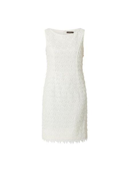Biała sukienka koktajlowa z szyfonu Vera Mont