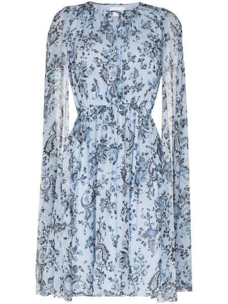 Niebieska sukienka z jedwabiu Erdem