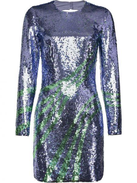 Открытое синее платье макси с открытой спиной Pinko
