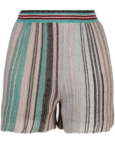 С завышенной талией шорты в полоску с поясом Missoni