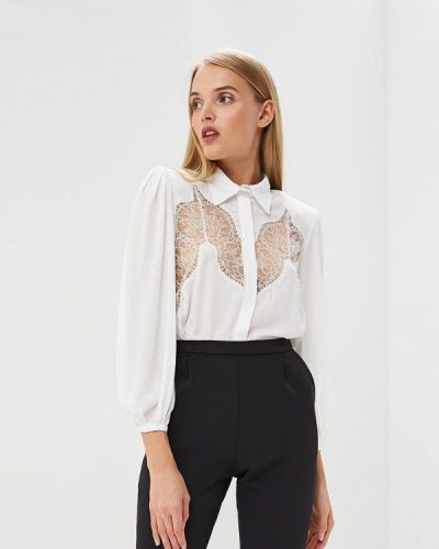 Белое боди блуза Elisabetta Franchi