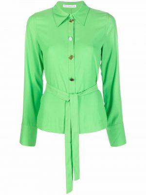 Zielona klasyczna koszula Rejina Pyo