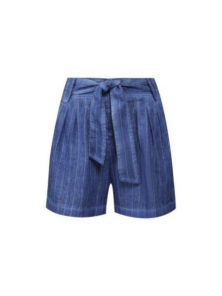 Льняные шорты - синие 120% Lino