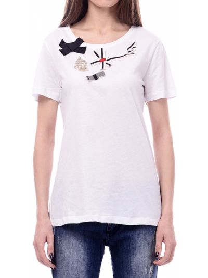 Хлопковая футболка - белая Marina Yachting