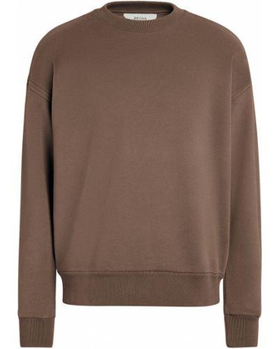 Brązowa bluza bawełniana Z Zegna