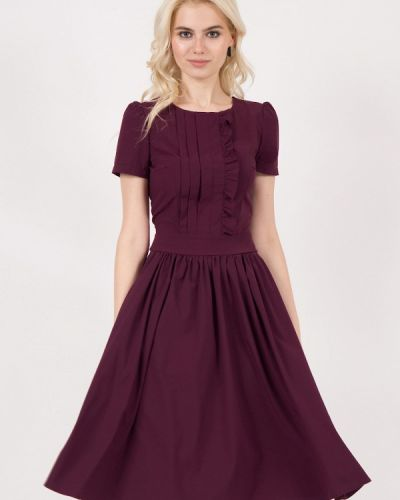 Платье миди бордовый красный Marichuell