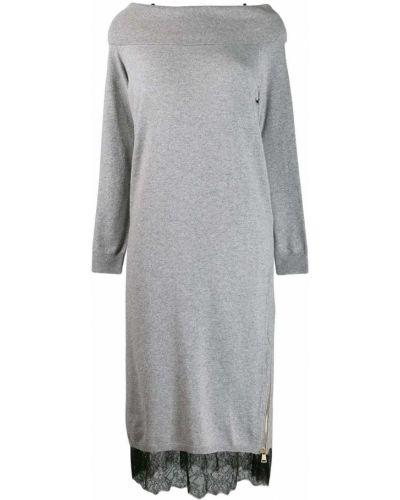 Платье макси через плечо на молнии Twin-set