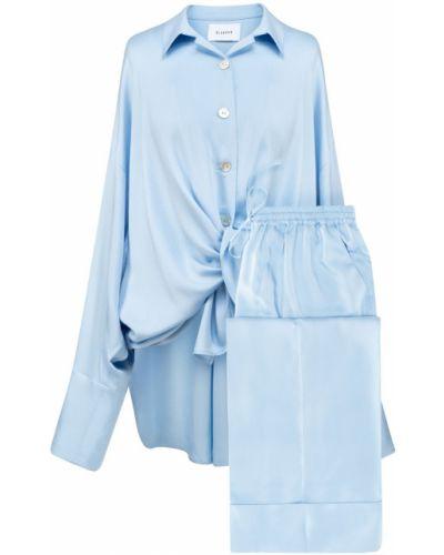 Niebieska satynowa piżama Sleeper