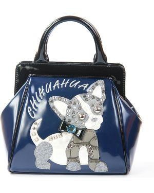 Синяя сумка Braccialini
