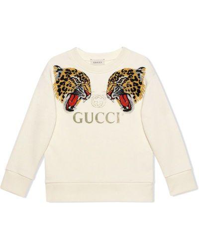 Толстовка белая Gucci Kids