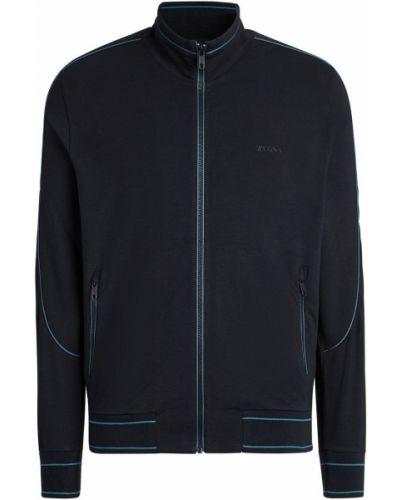 Niebieska bluza z printem Z Zegna