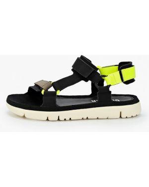 Черные кожаные сандалии Camper
