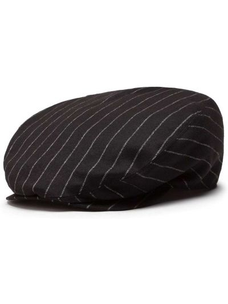 Wełniany czarny beret prążkowany za pełne Dolce And Gabbana