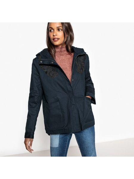 Пальто с капюшоном с вышивкой Mademoiselle R