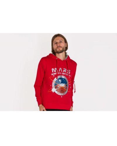 Bluza bawełniana - czerwona Alpha Industries