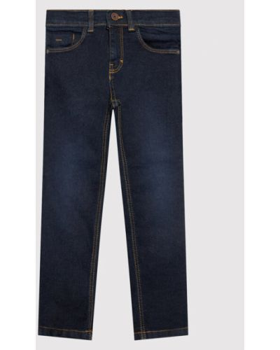Mom jeans - granatowe Boss