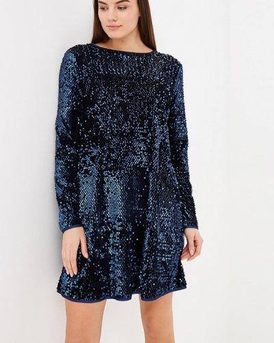 Вечернее платье осеннее синее Ribbon