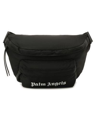 Кожаная белая поясная сумка с декоративной отделкой Palm Angels