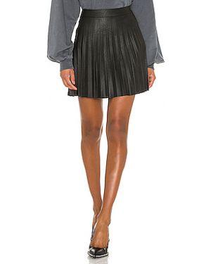 Плиссированная юбка кожаная из вискозы Cupcakes And Cashmere