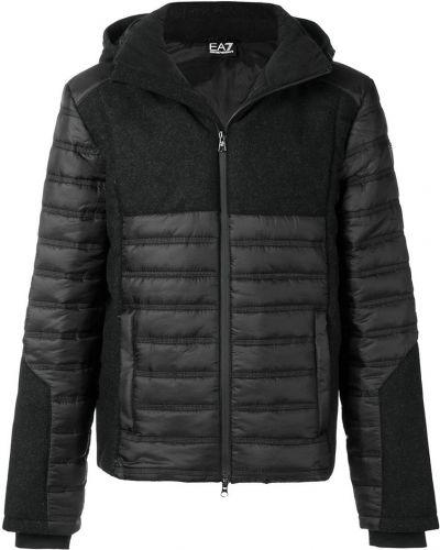 Куртка из полиэстера - черная Emporio Armani