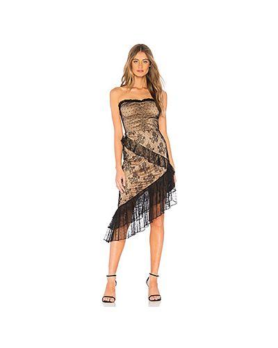 Платье миди с декольте в полоску Majorelle