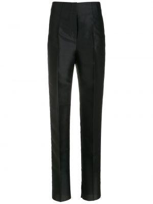 Черные шелковые брюки Giorgio Armani